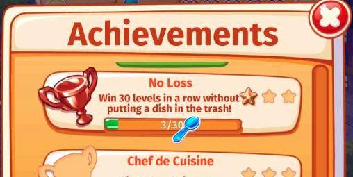 Cooking Craze Achievement Reward