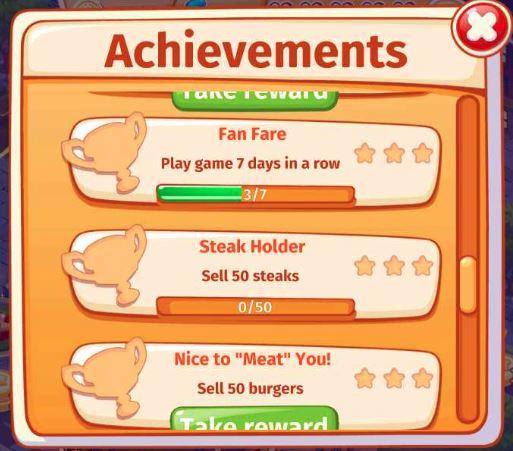 Cooking Craze Achievements