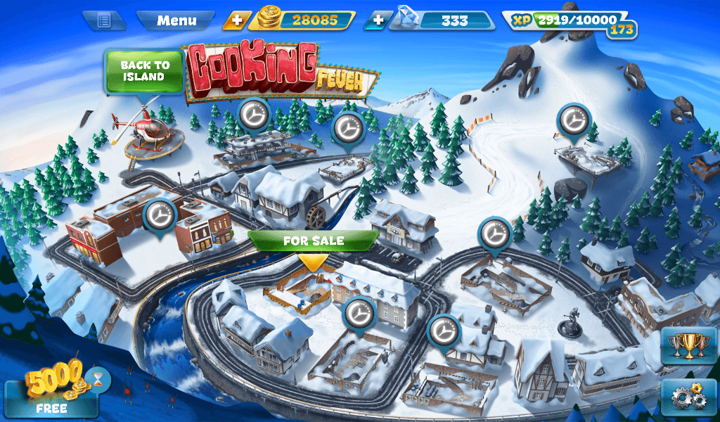 Cooking Fever Alpine Mountains