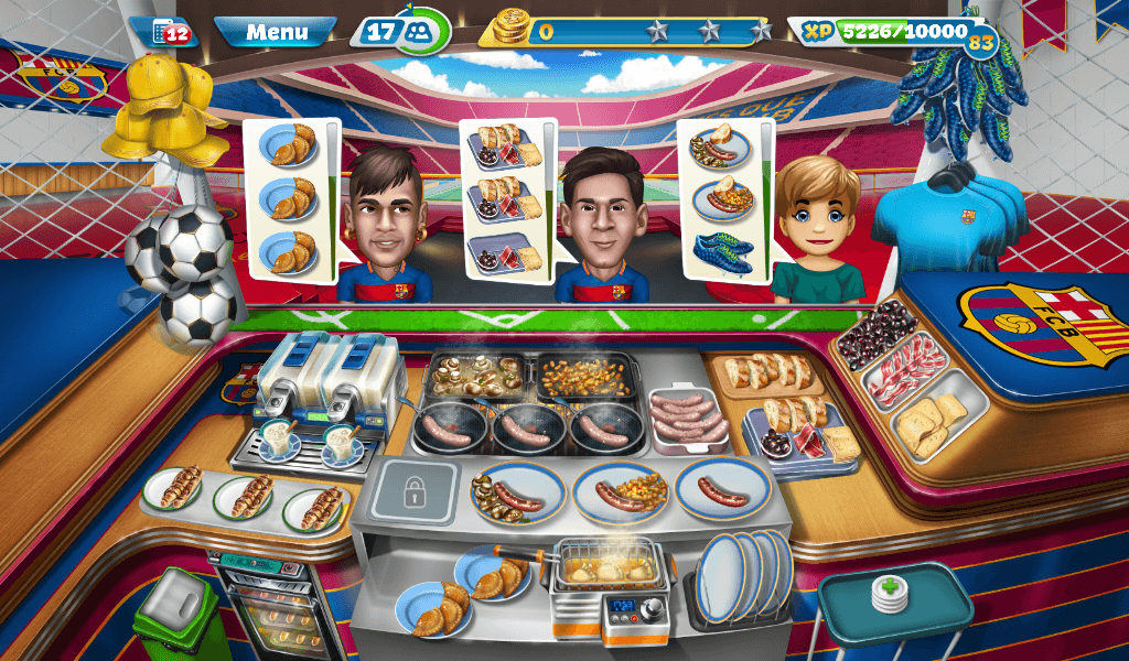 Cooking Fever - FC Barcelona Sports Bar