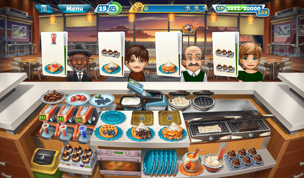 Cooking Fever - Sunset Waffles