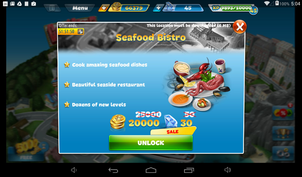 Cooking Fever Seafood Restaurant Special Offer